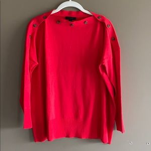 J Crew Button Sweater Red sweater Size S/M